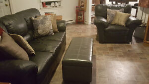 2 piece set, sofa and chair
