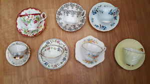 Teacups and Saucers (Bone China) & Glassware