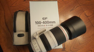 Canon 100-400mm f4.5.6L IS II USM lens (mint condition)