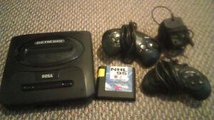 SEGA Genesis, 2 controllers, NHL 95, power cord