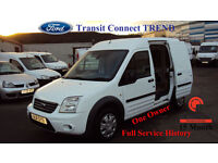 2011 FORD TRANSIT CONNECT WHITE DIESEL VAN 1.8TDCi ( 110PS ) H/Roof T230 Trend