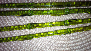 12 Glass Bamboo Sticks - for sale !