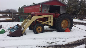 55hp Gas Tractor with loader for sale
