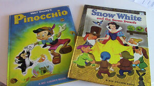 Walt Disney's Pinocchio, and Snow White, Big Golden Books Kitchener / Waterloo Kitchener Area image 1