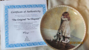 """New boxed Royal Dalton """"In Disgrace"""" Collector Plate"""