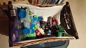 "Bin and Basket of Toys ""FREE"""