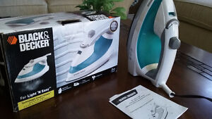 Black and Decker iron in brand new condition