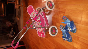 2-3 year old stroller and princess shoes