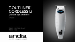 ANDIS: CORDLESS T-OUTLINER (LITHIUM-ION TRIMMER)