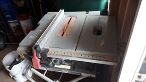 "Hauss Mann 10"" table saw with stand"