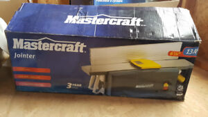 New in box. 13 amp Mastercraft Jointer. 1 1/2 H.P. 10,000 R.P.M.