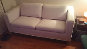 White ikea sofa bed
