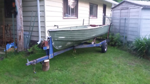 14 foot aluminum boat with trailer NO MOTOR