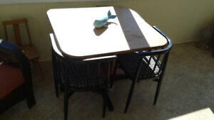 Unique vintage games table and chairs set