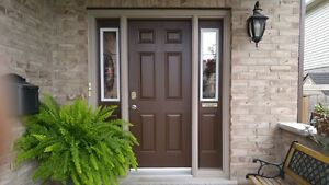 Front Steel Door with 2 side lights and frame.
