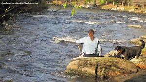 terrain avec 1000 pieds bord de rivière