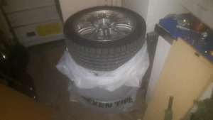 Bmw e46 m3 replica mags with winter toyo tires tires still good