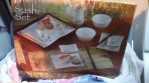 Sushi 15 piece porcelaine