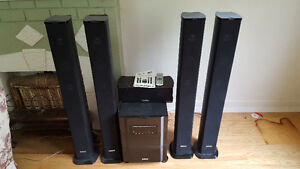 6 piece surround sound stereo system with subwoofer for sale