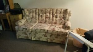 MUTED FLORAL 3 SEATER COUCH