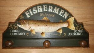 Fishermen Wall Plaque Decor