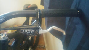 Front and rear hayes hydraulic disk brakes