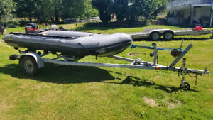 Zodiac MK CR Grand Raid Inflatable boat. Approx 14 ft long. 25HP