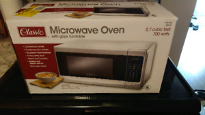 Like new white 700w microwave