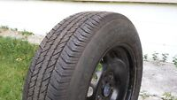 One Firestone, 195 65 R15 all season tire with rim for sell