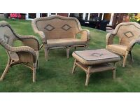 Wicker table and chair set