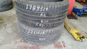Pair of 2 Bridgestone Potenza RE050 (run-flat) 225/35R19 tires (