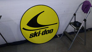 LARGE SKI DOO AND GASOLINE SIGNS