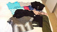 Lot of 11 shirts,pj's, jacket - size S - great condition or new!