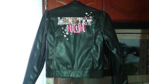 vêtements/manteau style cuir fille 10 ans