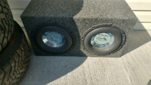 Subwoofer with amp. $60