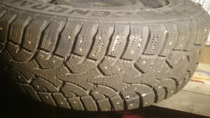 Honda Civic studded winters tires on rims