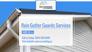 SRS Roofing | Rain Gutter Guards Services in Canada