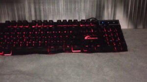 Brand New Mechanical Gaming Keyboard with LED Tri-Colour Switch