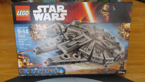 Lego Star Wars Millennium Falcon Sealed Signed by Peter Mayhew