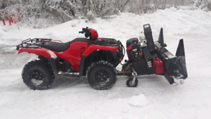 2018 Honda TRX500 Foreman ATV w/ Bercomac Snowblower