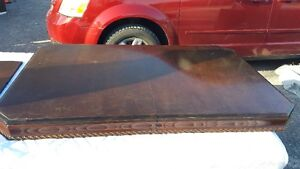 LARGE WOOD ANTIQUE DINNING TABLE