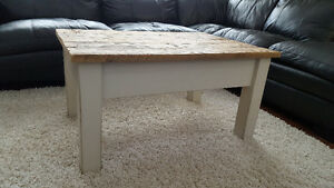 Coffee table with Barn Board Top