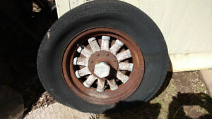Late 20's early 30's Whippet wood spoked wheel