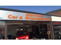 HURRICANE CAR & MOTORCYCLE SALES Bmw Ford VW Vauxhall Jag Citroen Skoda Toyota Peugeot