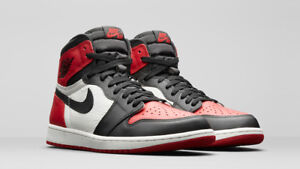Air Jordan 1 Bred Toes NIKE Size 9.5 Deadstock with receipt