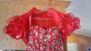 Beautiful red grad dress