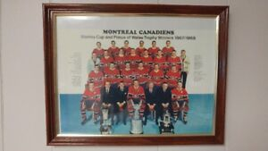1967/1968 Montreal Canadians Stanley Cup Winning Team Framed Pic