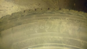Winter tires for sale. 265/70/17. $400 obo.