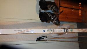 Skis et botte