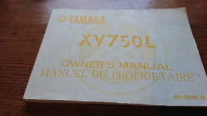 Owner's Manual for Yamaha XV750L